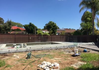 Installation of Glass Pool Fencing